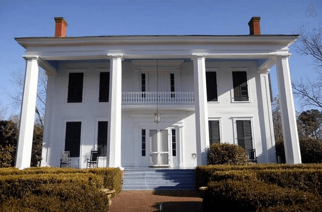 Antebellum plantation Airbnb in Eutaw, Alabama