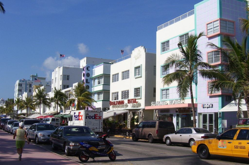Art Deco buildings in South Beach, Miami