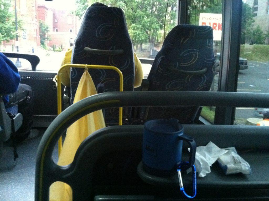 Interior of a Megabus