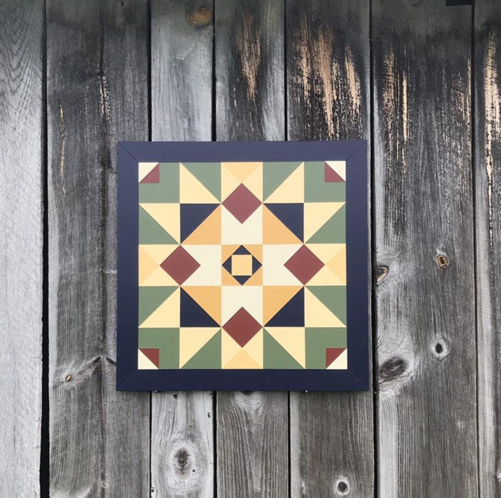 barn quilt on wall