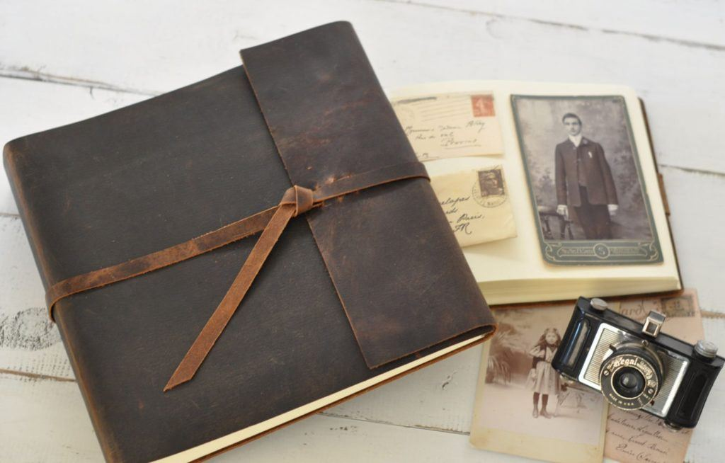 leather bound photo album
